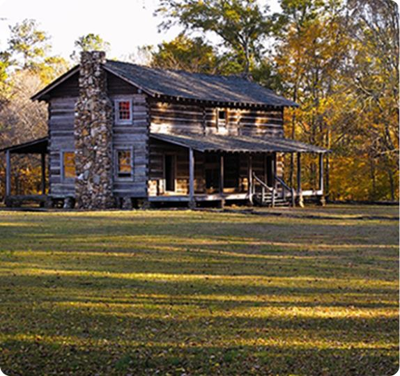 Mcintosh Inn historic wood cabin home